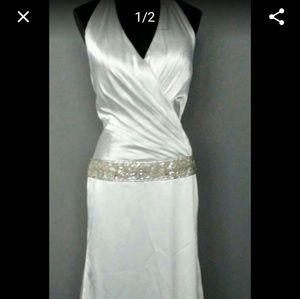Satin Halter Bridal Gown